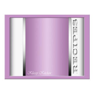 Tarjetas sofisticadas purpúreas claras de la