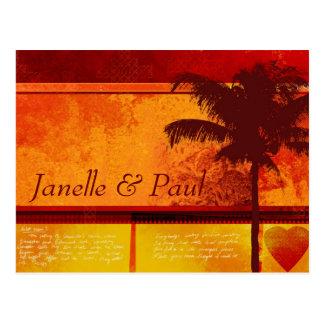 Tarjetas tropicales de encargo de la palmera