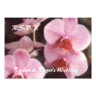 Tarjetas tropicales hawaianas de RSVP de la orquíd Invitacion Personalizada