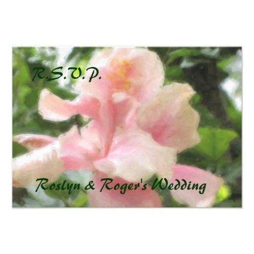 Tarjetas tropicales hawaianas de RSVP del hibisco Anuncios