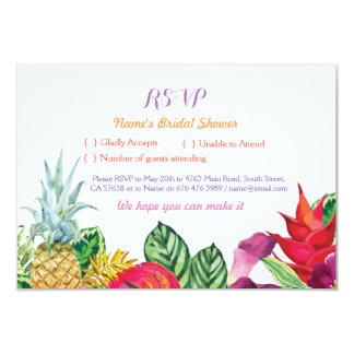Tarjetas tropicales Luau de la hawaiana nupcial de Invitación 8,9 X 12,7 Cm