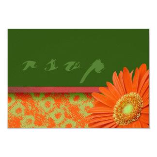Tarjetas verdes anaranjadas de RSVP de la Invitación 8,9 X 12,7 Cm