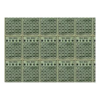 tarjetas verdes del bingo del vintage tarjetas de visita grandes