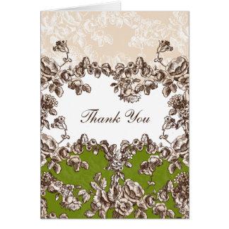 tarjetas verdes del boda gracias