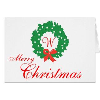 Tarjetas verdes rojas de las Felices Navidad del