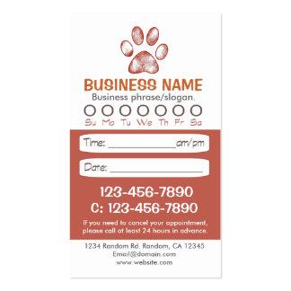 Tarjetas veterinarias de la cita de la impresión tarjetas de visita