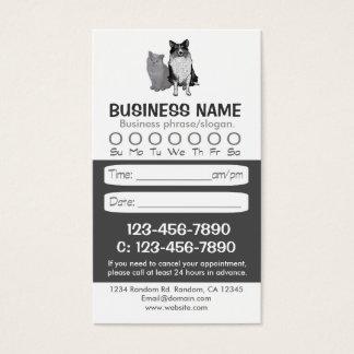 Tarjetas veterinarias de la cita del gato del
