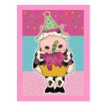 Tarjetas y franqueo de cumpleaños de la vaca postales