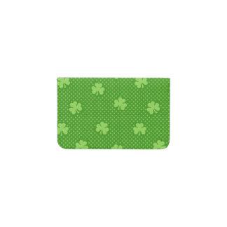 Tarjetero Día verde de Patricks del santo del modelo del