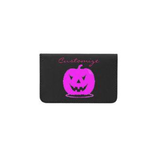 Tarjetero Jack rosado Halloween o'lantern Thunder_Cove
