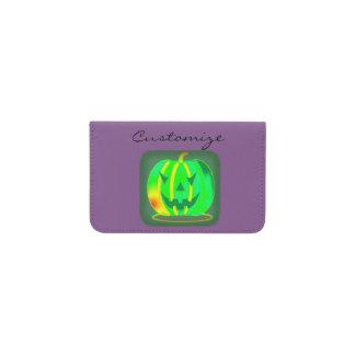 Tarjetero Jack verde Halloween o'lantern Thunder_Cove