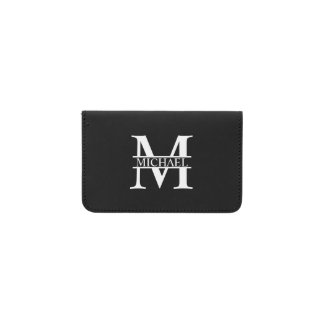 Tarjetero Monograma y nombre personalizados