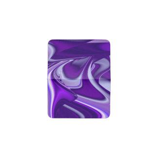 Tarjetero Sueños púrpuras del arco iris de la flor