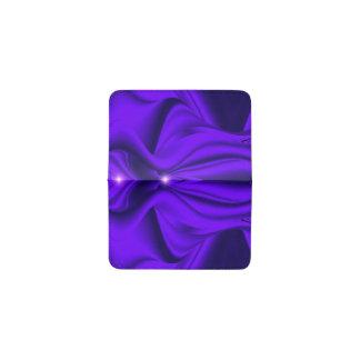 Tarjetero Sueños púrpuras del arco iris de la flor - dos