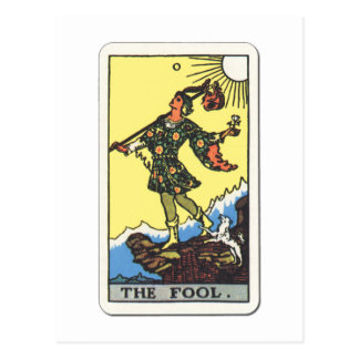 Tarot el bufón The Fool Postal