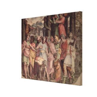 Tarquinius el orgulloso fundando el templo de Jupi Impresión En Lienzo