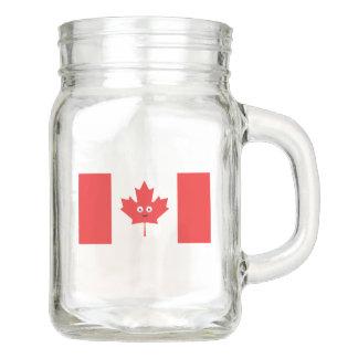 Tarro Cara canadiense de la hoja de arce