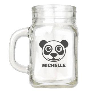 Tarro Cara personalizada de la panda