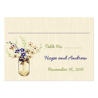 Tarro de albañil de la flor salvaje del cobre y de plantilla de tarjeta personal