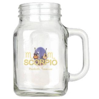 Tarro de albañil del escorpión del zodiaco de