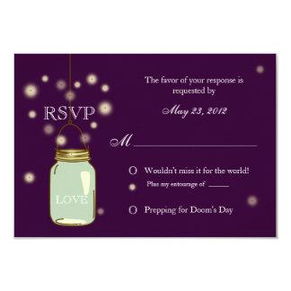 Tarro de albañil e invitación de RSVP del corazón