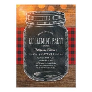 Tarro de albañil rústico de la pizarra del fiesta invitación 12,7 x 17,8 cm