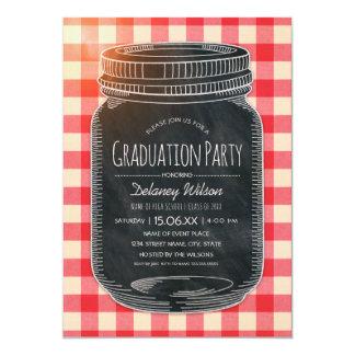 Tarro de albañil rústico del país de la fiesta de invitación 12,7 x 17,8 cm