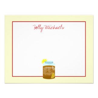 Tarro de té helado dulce con los limones Notecards Comunicado