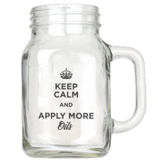 Tarro Guarde la calma y aplique más aceites