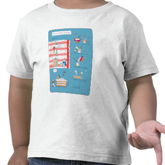 Tarta en azul t shirts