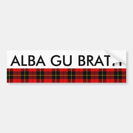 Tartán Alba de Gu Brath Escocia para siempre Pegatina Para Coche