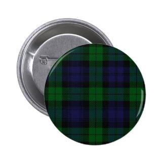 Tartán azul y verde de Sunderland del escocés Chapa Redonda 5 Cm