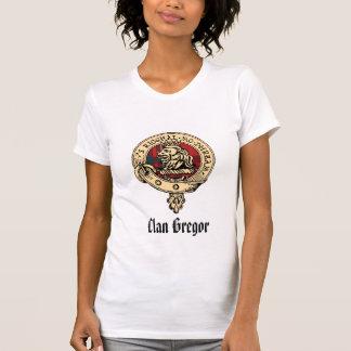 Tartán crudo de la insignia de Gregor del clan Camisetas