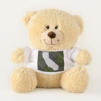 Tartán de California y oso de peluche del estado