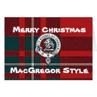 Tartán de la tarjeta de Navidad de MacGregor