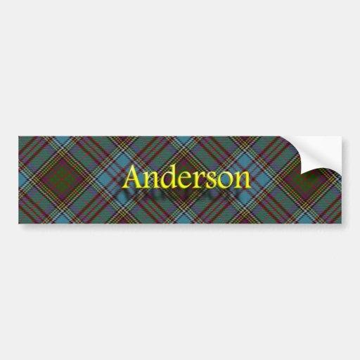 Tartán del escocés de Anderson del clan Pegatina De Parachoque