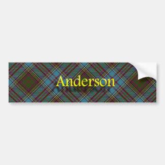 Tartán del escocés de Anderson del clan Pegatina Para Coche