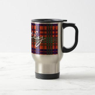 Tartán del escocés de Huntly Tazas De Café