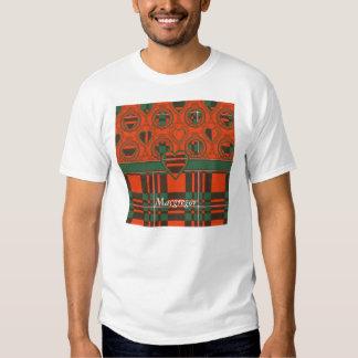 Tartán del escocés de la tela escocesa del clan de camiseta
