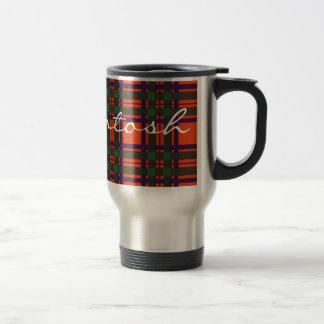 Tartán del escocés de Machintosh Tazas De Café
