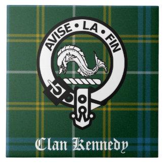 Tartán del escudo de Kennedy del clan Azulejo Cuadrado Grande