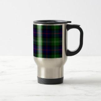 Tartán escocés azul y verde de Sutherland del clan Taza De Viaje