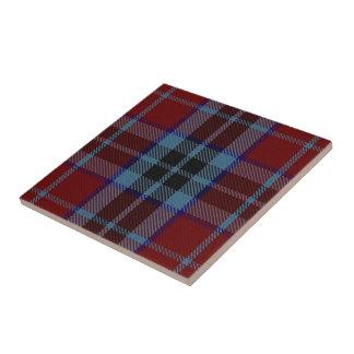 Tartán escocés de las expresiones de MacTavish del Azulejo Cuadrado Pequeño