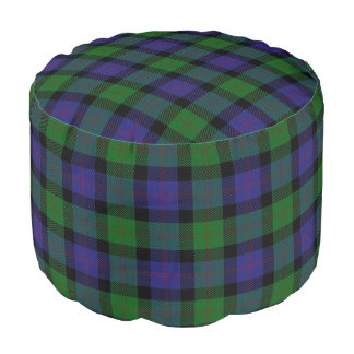 Tartán escocés del verde azul del estilo de Blair Puf