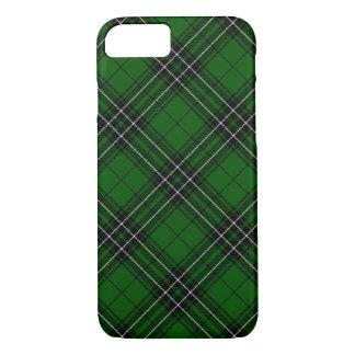 Tartán escocés verde y negro de MacLean del clan Funda Para iPhone 8/7