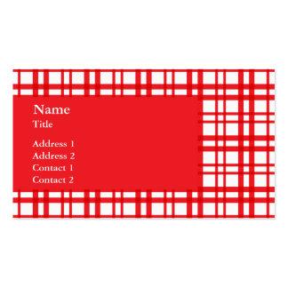 Tartán rojo tarjetas de visita