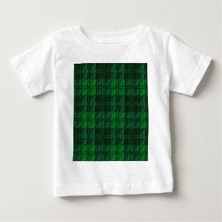 Tartán verde oscuro camiseta de bebé