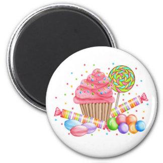 Tartas del dulce del Lollipop del caramelo de la m Imán Redondo 5 Cm