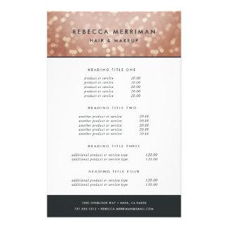 Tasación y servicios color de rosa de cobre de flyer