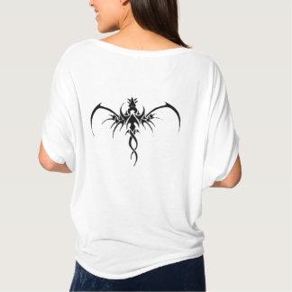 Tatto negro del dragón camiseta